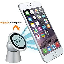 CNAUD Magnetic Cell Phone Holder (Silver)
