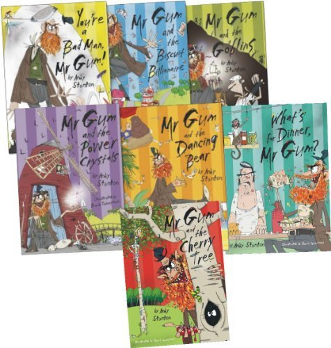 Mr Gum Collection, 7 books Pack, RRP £33.94 (Mr Gum & Cherry Tree, Mr Gum & Biscuit Billionaire, Mr Gum & The Dancing Bear, Mr Gum & The Goblins, Mr Gum & The Power Crystals, You're A Bad Man Mr Gum, What's for Dinner, Mr Gum?) (Mr Gum) (Mr Gum Collection)