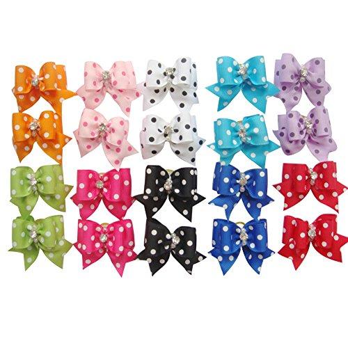 Artikelbild: 20er Set Bögen süß Hundeschmuck Haarschleifen mit Gummiband Hundesalon Haarbögen Zubehör für Haustier Hunde Katze Welpen