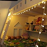 Uping Fairy Lights 8 Mode string lights 12m 100 Globe ball warm white with UK-Plug build-in DC 31V low voltage transformer Suitable for Indoor Outdoor Party Garden Christmas Halloween Wedding Home Bedroom Yard Deck Decoration