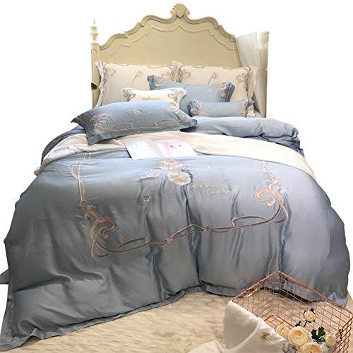 Vier Gruppen von Amerikanischen 60 Tage Seide bettwäsche Frühlings- und sommermonaten Seide Bett Produkte zweiseitige Reine Farbe Quilt-A 220x240cm(87x94inch) (Bestickte Seide-bett-abdeckung)