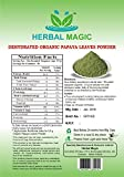 100% PURE & NATURAL 100G ORGANIC CERTIFIED DEHYDRATED PAPAYA LEAVES POWDER (CARICA PAPAYA) - ORGANIC/ISO 22000:2005/FSSAI CERTIFIED PRODUCE (Pure leaves powder NOT treated/ tinctured, or cooked powder extracts)