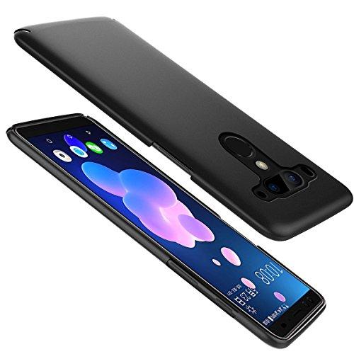 Moonmini Custodia HTC U12 Plus, Custodia Rigida Hard PC Ultra Slim Leggera Full Protezione Antigraffio Antiurto Custodia Protettiva Bumper per HTC U12 Plus Nero