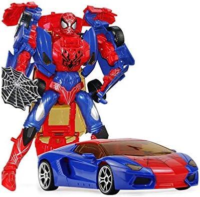 JJJJD  s s s Jouets Éducatifs Déformation Araignée Avengers Robot Alliance Modèle Garçon Jouet Déformation Voiture Modèle Cadeau 50f224