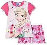 Disney Elsa, Pigiama Bambina, Rosa (Pink 014), 5-6 Anni
