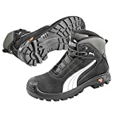 Puma Safety Shoes Cascades Mid S3 HRO SRC, Puma 630210-202 Unisex-Erwachsene Sicherheitsschuhe, Schwarz (schwarz/weiß 202), EU 48