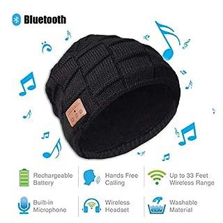 Lypumso Musik Mütze Bluetooth, Mütze mit Bluetooth Kopfhörer Headset Mic Lautsprecher für Laufen, Skifahren, Skaten, Wandern im Winter