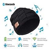 Lypumso Bluetooth Bonnet, Chapeau Unisexe sans Fil Bluetooth Chapeaux Chauds avec Casque Micro Haut-Parleur pour la Course, Le Ski, Le Patinage, la Randonnée en Hiver