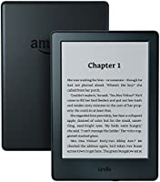 "Kindle E-Reader, 6"" Glare-Free Touchscreen Display, Wi-Fi (Black) - Includes Special Offers"