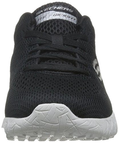 Skechers Burst-Second Wind, Baskets Basses Homme Noir (Bkw)
