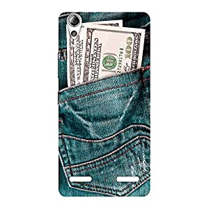 The Awesome Money Jeans Back Case Cover for Lenovo A6000