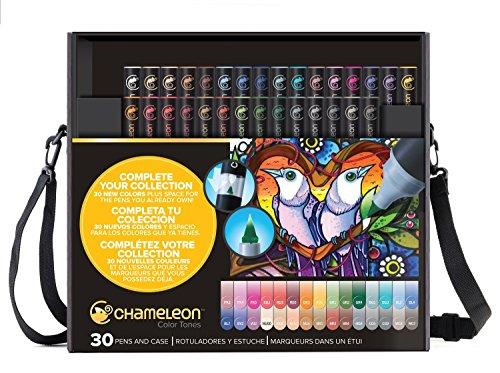 Chameleon Color Tones Permanentmarker auf Alkoholbasis, mischbar, 30-teiliges Set