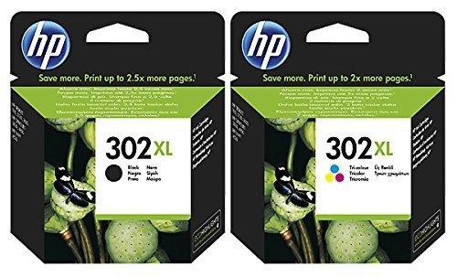 Preisvergleich Produktbild 1x Set Original XL HP Tintenpatrone F6U68AE F6U67AE HP 302XL HP 302 XL für HP - BLACK + Color - Leistung: BK ca. 480 / Color ca. 330 Seiten/5%