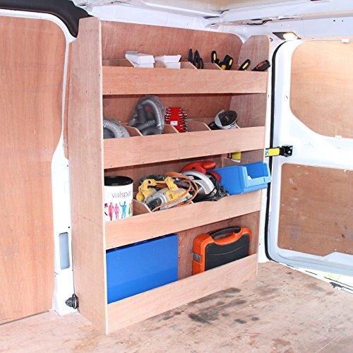 Preisvergleich Produktbild Monster Racking Ford Transit Fahrzeugeinrichtung Fahrzeugregal Werkstattwagen Sortiersystem Werkzeugaufbewahrung Regal Holzregal Autoregal Werkstattregal 102cm x 30cm x 136cm