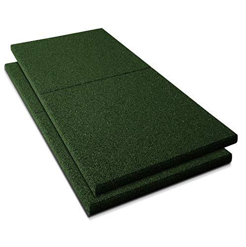 Fallschutzmatten Play Protect Plus | extragroß | grün | Fallschutz made in Germany | einzeln oder im 2er Set (2 Stück: 100 x 100 cm)