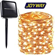 JOYWAY-Blue carbon Solar String Lights, 200 LED Waterproof Solar Lights Outdoor, 8 Modes Solar Fairy Lights Indoor/Outdoor D