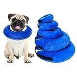 merymall Collar Hinchable para Perros pequeños y Grandes, cómodo Collar para Mascotas para recuperación, Collares para Perros básicos inflables
