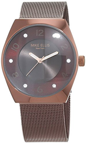 Mike Ellis New York Damen-Armbanduhr Chrystalslim Analog Quarz Edelstahl SL3141C2