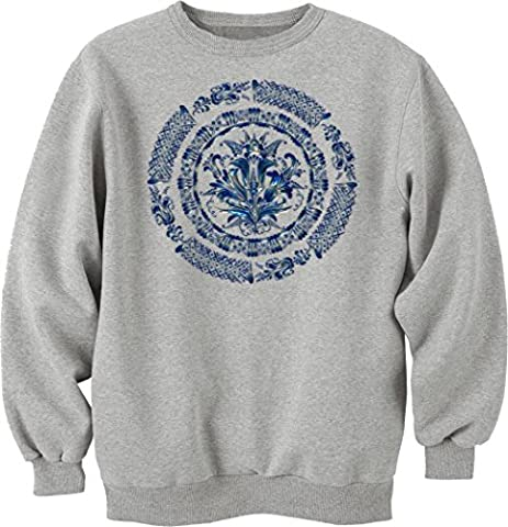 Blue mandala logo dope Unisex Sweater Large