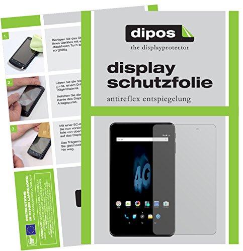 dipos I 2X Schutzfolie matt passend für Allview Viva H802 LTE Folie Bildschirmschutzfolie
