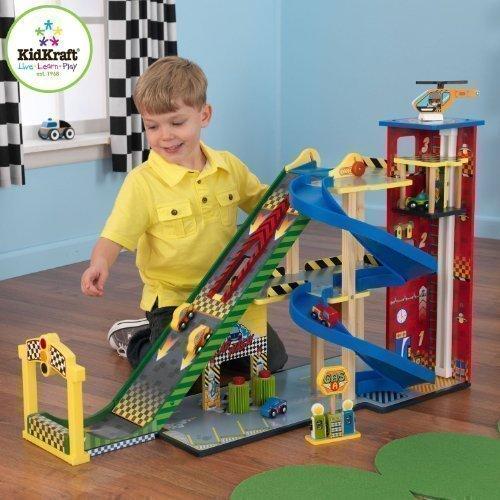 kidkraft-set-garage-con-maga-rampa-di-lancio-per-auto-da-corsa-con-automobiline-giocattolo-matchbox-