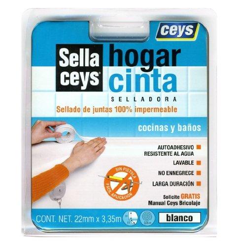 ceys 505570 Cinta selladora Sella, Blanco, 0