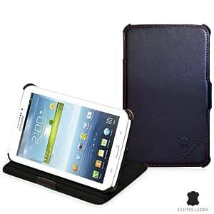 Manna - Étui / housse coque de protection pour Samsung Galaxy Tab 3 7.0 - T2100 T2110 | Avec Easy Stand / FONCTION DE MISE EN PLACE* (idéal pour la lecture de vidéos & textes) EN CUIR