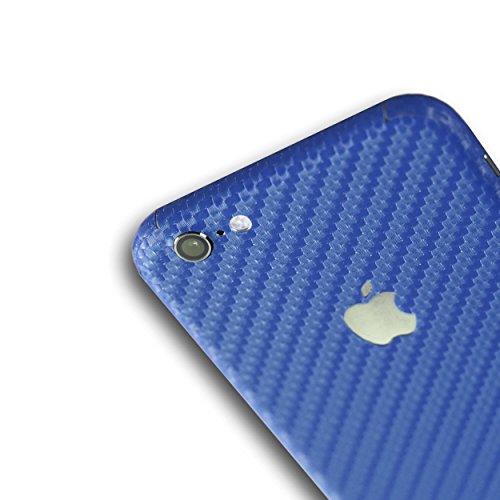 appskins Lot de 6films iPhone Bleu carbone