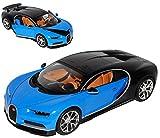 Bburago Bugatti Chiron Coupe Blau Ab 2016 1/18 Modell Auto mit individiuellem Wunschkennzeichen