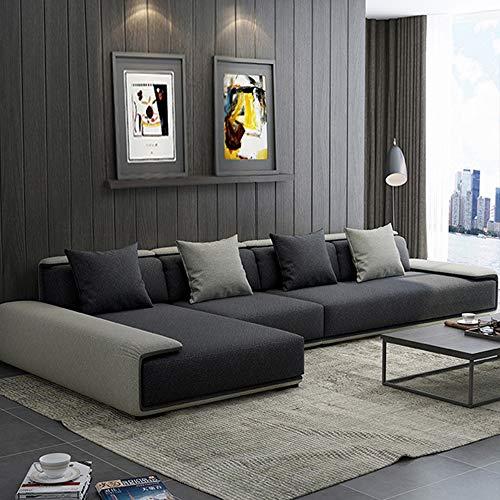 WSN Divano angolare,Sofà a Forma di L Aggiornamento mobili da Giardino Divano ad Angolo Veranda modulare modulare Divano in Rattan ad Angolo con Rivestimento per mobili