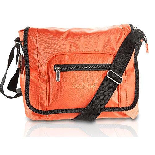 SUVELLÉ Lightweight Flapper Travel Everyday Crossbody Bag Multi Pocket Shoulder Handbag 9902 -