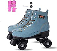 Quad Roller Skates/Roller Skates for Adult and Children, Comfortable Fabric - for Sports Perfect Gifts (Unisex),Non-FlashWhe
