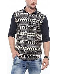 SHOWOFF Mens Beige Solid Casual Shirts