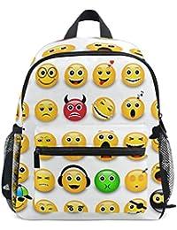 COOSUN Kinder amarilla Emoticonos Emojis Mini Mochila Kids Pre-School Bolsa Niño Multicolor