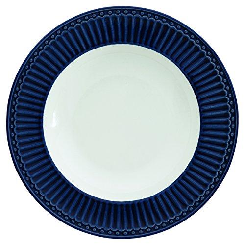 Greengate STWDPLAALI2206 Alice Assiette à pâtes Bleu foncé 21,5 cm