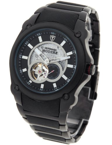 DeTomaso Men's Modena Automatic Watch MTM8808A-BK2 Black/Black