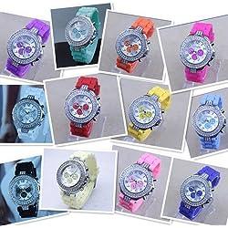 Hot sale New Fashion Designer Ladies sports brand silicone watch jelly watch quartz watch for women men