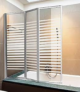 Parete vasca box doccia cristallo serigrafato h140x130 - Box doccia fai da te ...