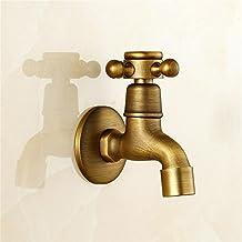 TOYM- Tutti Rame singola fredda Mop piscina rubinetto rapido Open Water bocca nella antico muro rubinetto del bacino ( colore : Short Section )