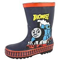 Thomas The Tank Engine 3D Rubber Wellington Boots Wellies Snow Boots Boys Size UK 4-10