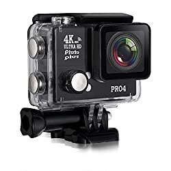 Action Camera Pluto Plus Pro 4 Sports Action Camera 20 Megapixels 4K Ultra HD Water Proof