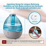 Luftbefeuchter Schlafzimmer Baby TaoTronics 2,3 L Luftbefeuchter Ultraschall mit kaltem Nebel für Zimmer bis zu 30㎡, Leichter & Intensiver Nebel, Schlafmodus, ohne Filter und leise, BPA frei - 6