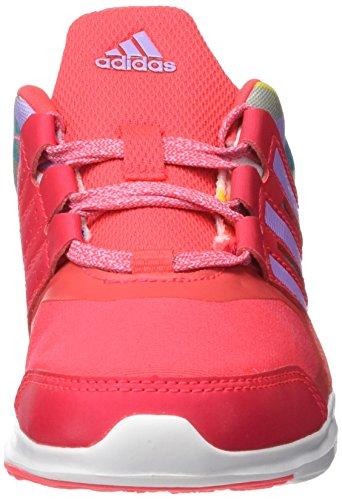 Adidas Hyperfast 2.0 K, Scarpe Low-Top Bambini e Ragazzi Rojo / Morado (Rojimp / Rojimp / Brimor)