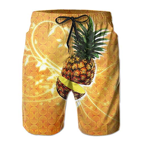 best& Mens Board Shorts Drawstring Lightweight Swim Trunks Funny Sugar Skull Flowers L -