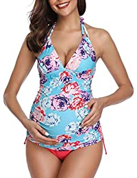 0ed9d71421e3f Summer Mae Maternity Swimming Costume Triangle Halter Tankini