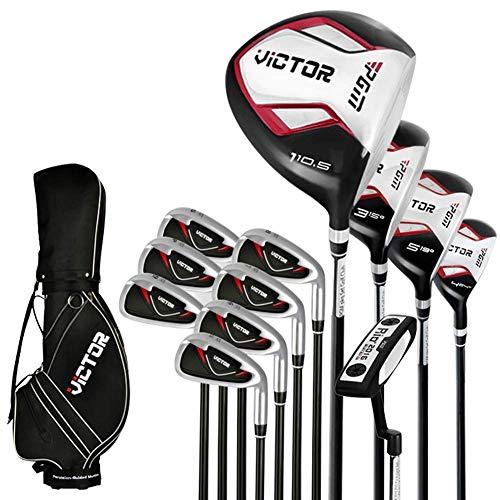 WCK Herren Golfschläger Komplettsets Golf Rechtshänder 12 Graphitschaft-Schläger & 1 Durable Golf Bag