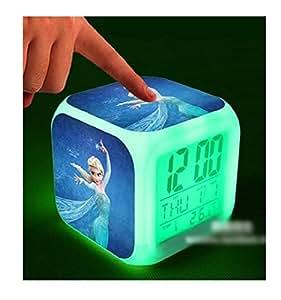 Princesse Elsa de La Reine des neiges ft cube Réveil numérique avec lumière changeante K118