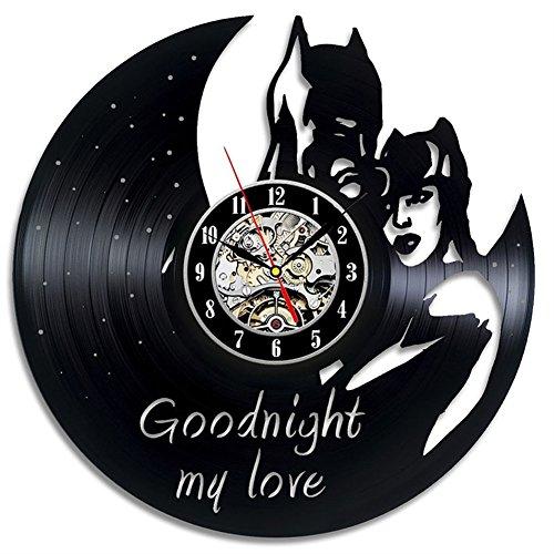 ik Wanduhr Die Schöne Und Das Biest Klassisch Schallplatten Wall Clock, 002 ()