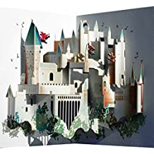 Pop Up 3d tarjeta Hogwarts–Tarjeta de cumpleaños cupones berü enmarcado Candado 16x 11cm