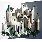 Pop Up 3D Karte Hogwarts Grusskarte Geburtstag Gutschein Berühmtes Schloß 16x11cm